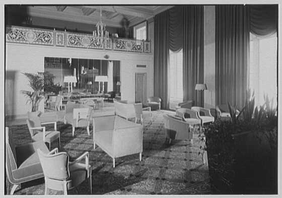 Newark Athletic Club, Broad St., Newark, New Jersey. Furniture group