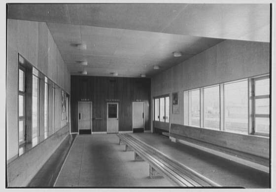 Aberdeen Station, Pennsylvania Railroad, Aberdeen, Maryland. Southbound station, interior II