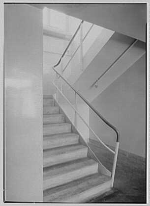 Hoffmann-LaRoche Inc., Nutley, New Jersey. Building 42, main staircase up