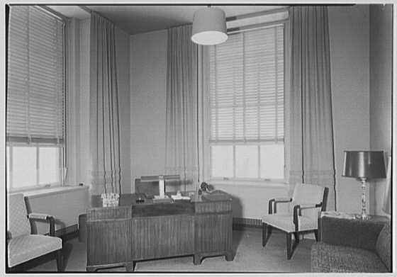 Denny & Denny, 610 5th Ave., New York City. Frank Denny's office