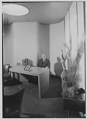 Irving W. Rice Company, business at 15 W. 34th St., New York City. Office III, Mr. Rice at desk