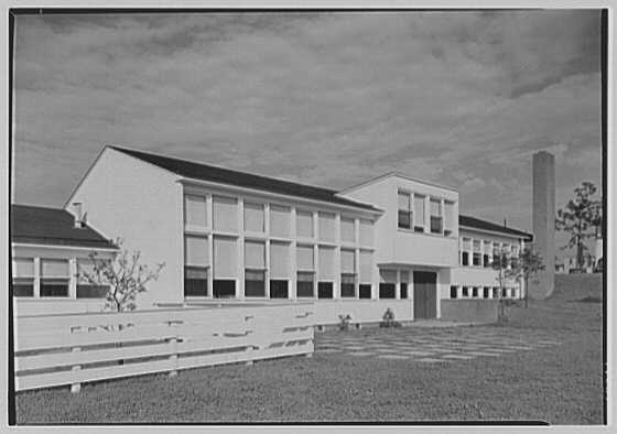 Pine Ford Acres Community Building, Middletown, Pennsylvania. Rear facade III