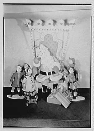 Staples-Smith, 222 E. 46th St., New York City. Santa Claus on throne