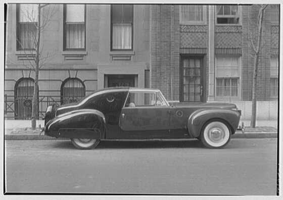 Raymond Loewy Associates, 580 5th Ave., New York City. Model automobile I, Lincoln Zephyr