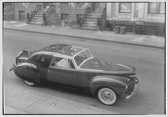 Raymond Loewy Associates, 580 5th Ave., New York City. Model automobile II, Lincoln Zephyr