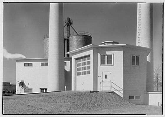 Hoffmann-LaRoche, Nutley, New Jersey. Incinerator and boiler house I