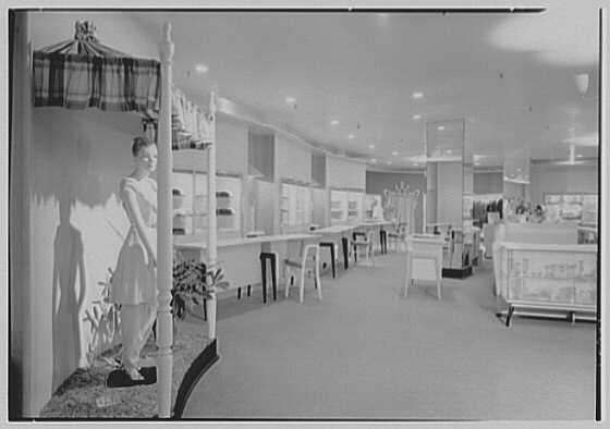 Bonwit Teller, business at 17th and Chestnut, Philadelphia, Pennsylvania. Interior II