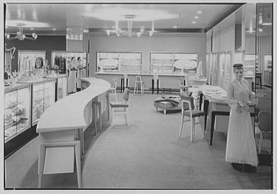 Bonwit Teller, business at 17th and Chestnut, Philadelphia, Pennsylvania. Interior VI