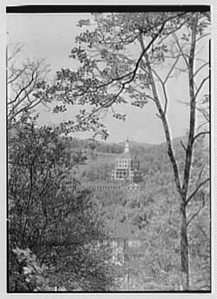 The Homestead, Hot Springs, Virginia. Tower from distance