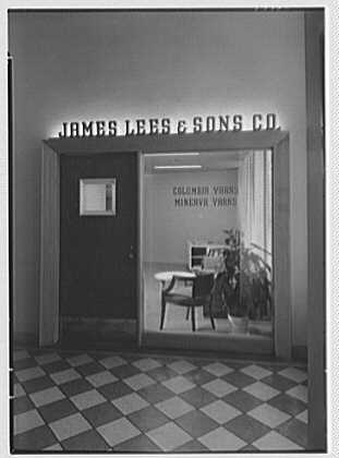 James Lees & Sons Co., business at 295 5th Ave., New York, New York. Entrance door