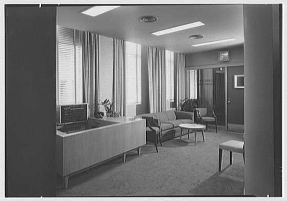 James Lees & Sons Co., business at 295 5th Ave., New York, New York. Interior, reception room