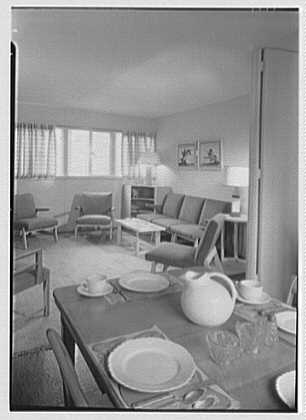 Harmon Homes, Phoenixville, Pennsylvania. Dinette, to living room ...
