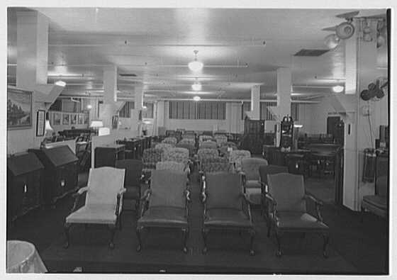Pomeroy Co., business in Harrisburg, Pennsylvania. Furniture department VI