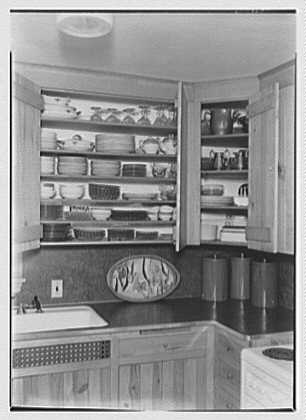David Phillips, residence, R.F.D., Troy, New York. Kitchen shelves I