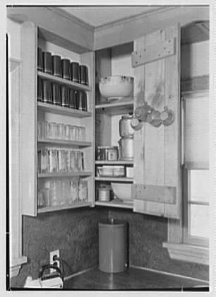 David Phillips, residence, R.F.D., Troy, New York. Kitchen shelves II