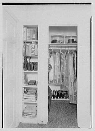 David Phillips, residence, R.F.D., Troy, New York. Bedroom closet