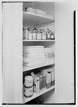David Phillips, residence, R.F.D., Troy, New York. Bathroom closet