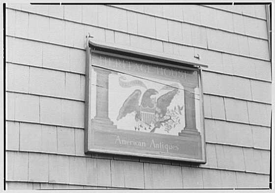 Mrs. Lawrence J. Ullman, business in Tarrytown, New York. Signboard