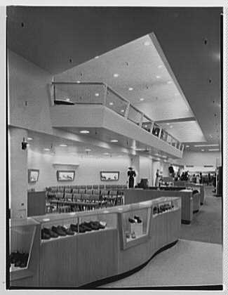 Macy's, business in Jamaica, Long Island, New York. Vertical of mezzanine