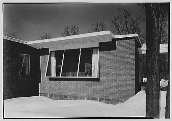 Donald C. Little, residence in Syosset, Long Island, New York. Exterior, detail III