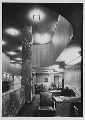 Trade Bank, W. 48th St., New York City. Officer's enclosure