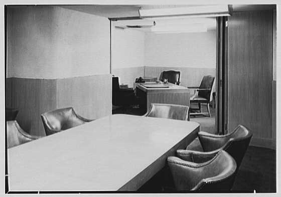 Trade Bank, W. 48th St., New York City. Conference room, to president's office