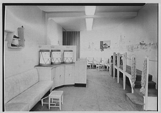 Postur-Line, business at 10 Third St., Great Neck, Long Island. Interior