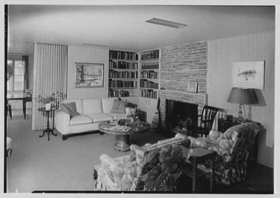 Rodman W. Chamberlain, residence on Moorland Rd., Kensington, Connecticut. Living room