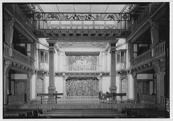 Folger Shakespeare Library, 201 E. Capitol St., Washington, D.C. Theater to stage, axis view II