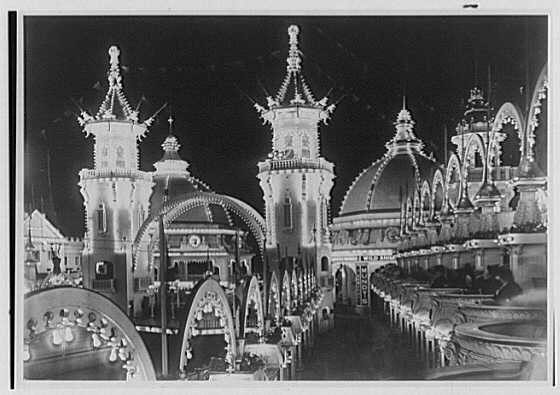 New York City views. Luna Park at night, copy negative no. 450
