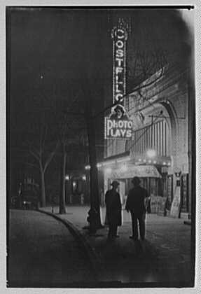 Costello Theater, Fort Washington Ave. about 160th St. Night view