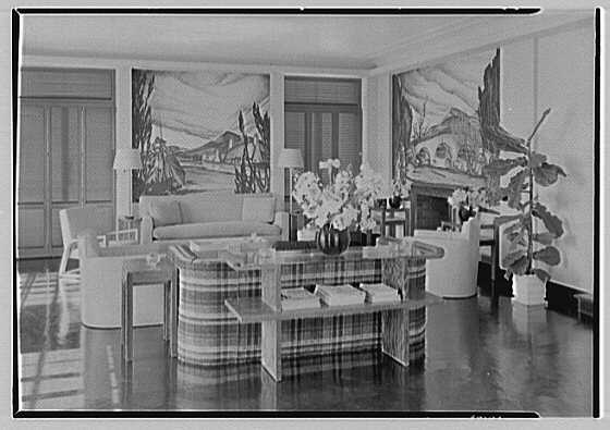 Robert T. Swaine, residence in Milton, Connecticut. Sun room, to west wall