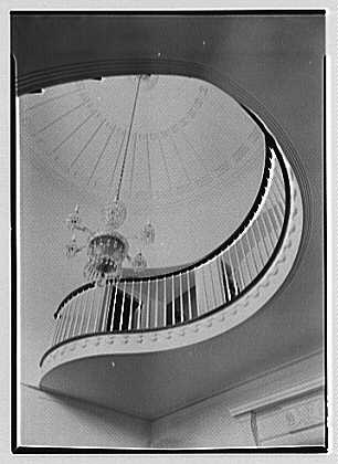 Robert T. Swaine, residence in Milton, Connecticut. Up shot of staircase II