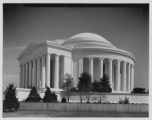 Jefferson Memorial, Washington, D.C. Exterior, including entrance