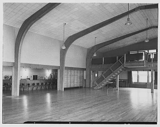 U.S. Coast Guard Academy, Reserve Cadet Buildings, New London, Connecticut. Recreation hall I