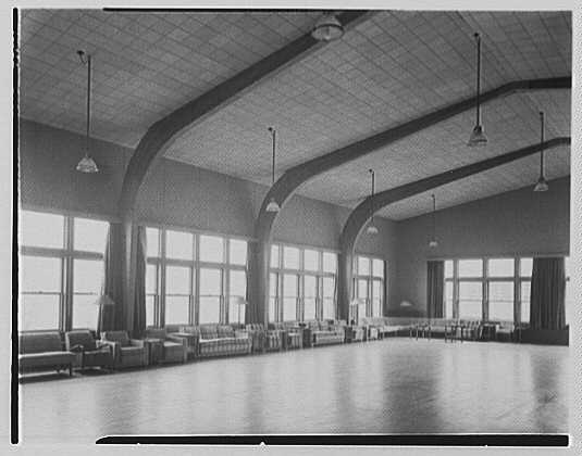 U.S. Coast Guard Academy, Reserve Cadet Buildings, New London, Connecticut. Recreation hall II