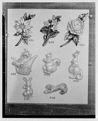 Mrs. J. Hodson, Greenwich, Connecticut. Plastic ornaments III