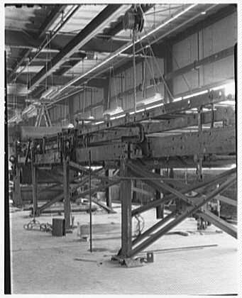 Mengel Company, Fulton, New York. View to machine
