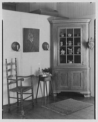 Mrs. Lawrence J. Ullman, business on Prospect Ave., Tarrytown, New York. Group with corner cabinet