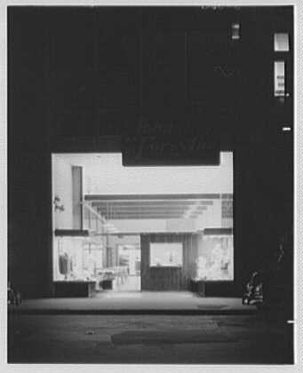John Forsythe, business at 348 Madison Ave., New York City. Exterior, general view