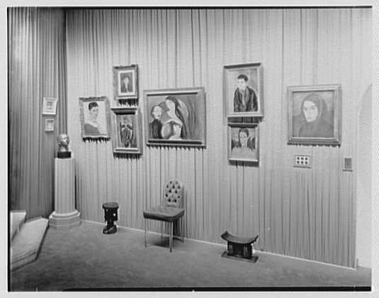 Helena Rubenstein, residence at 625 Park Ave., New York City. Art gallery IX