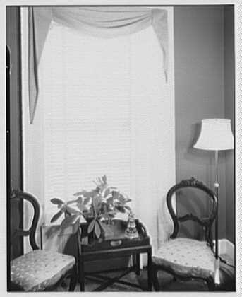 Hilda Kassell, E. 53rd St., New York City. Venetian blind at Emma Cole's residence