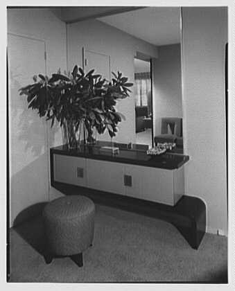 E. Glucker, residence at 11 Riverside Dr., New York City. Vestibule to living room