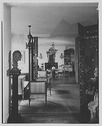 Elizabeth Draper, residence at 840 Park Ave., New York City. Long view of apartment