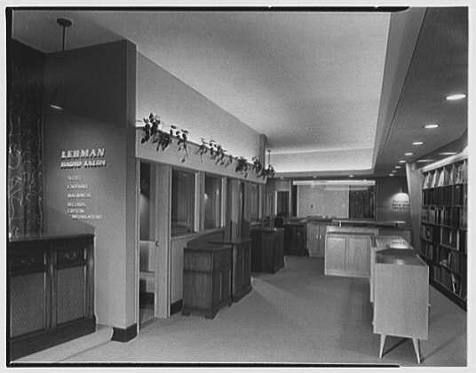 Lehman Radio Salon, business at 60th St. and Madison Ave. General view to rear