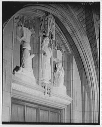 St. Thomas Church, 5th Ave. and 53rd St., New York City. Sculpture in 53rd St. entrance