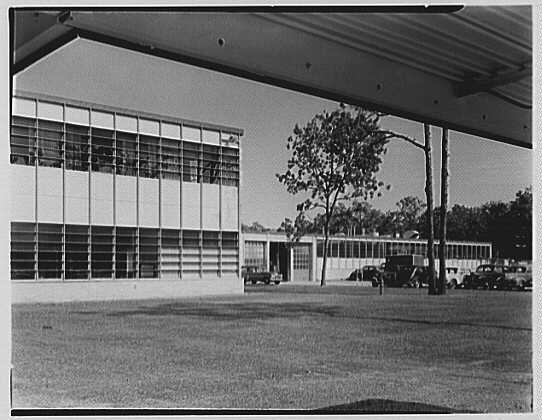 Fairchild Aircraft Corporation, Bayshore, Long Island, New York. View to work space