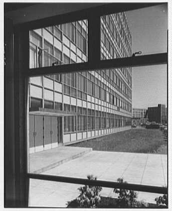 John Thompson Dorrance Laboratory, M.I.T., Cambridge, Massachusetts. East facade from stair hall I