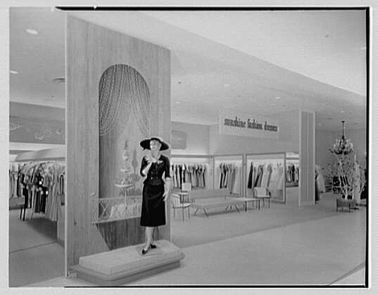 Burdine's department store, business in Miami Beach, Florida. Summertime fashion