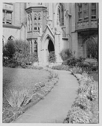 Grace Church, 9th and Broadway, New York City. North garden I